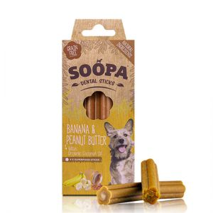 Soopa Dental Sticks - Banana & Peanut Butter | Paws Up