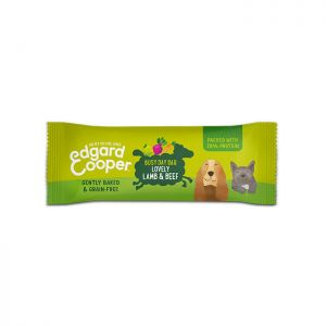 Edgard & Cooper, graanvrije busy day bar met lam, rund, appel, rode biet & wortel - 25g